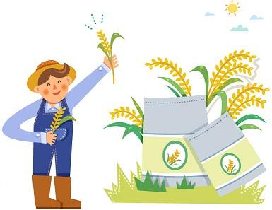 쌀을 들고 있는 농부 그림